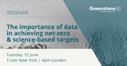 The importance of data in achieving net-zero & science-based targets
