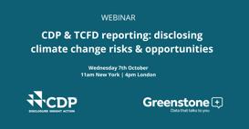CDP TCFD risks & opportunities webinar