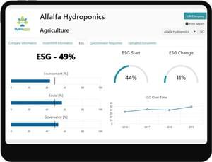 Investor ESG software tablet