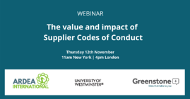 The value of supplier codes of conduct webinat 12th Nov 2020