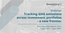 Tracking GHG emissions