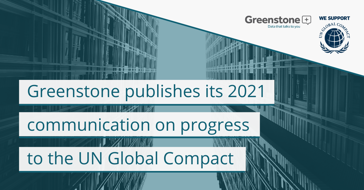 Greenstone's Communication on Progress 2021
