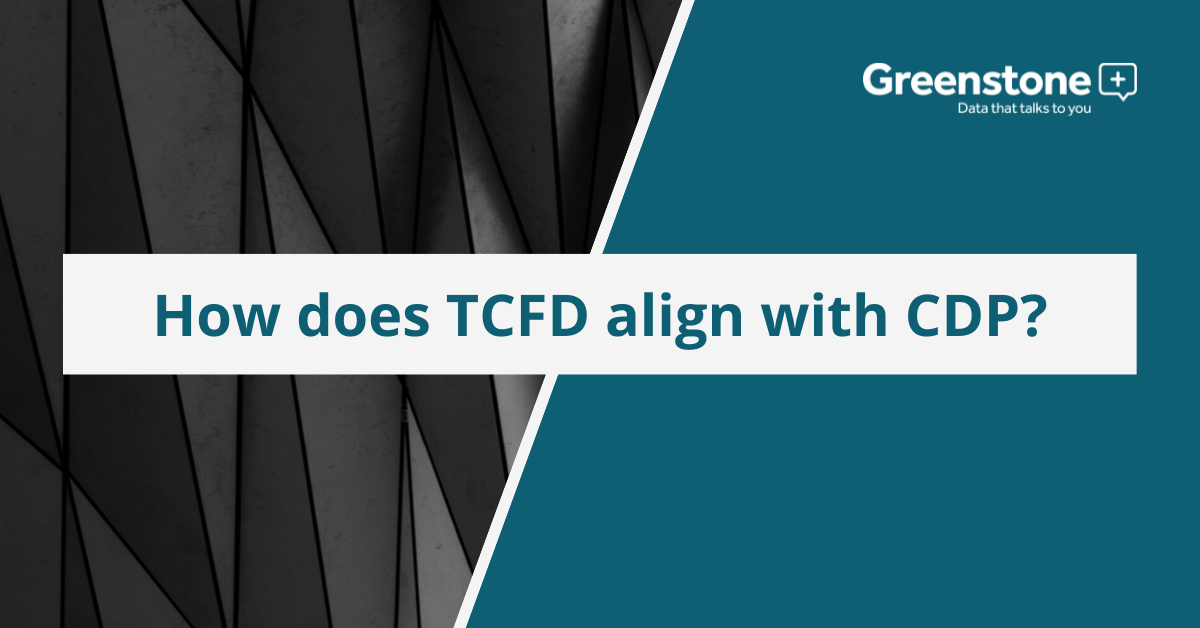 How does TCFD align with CDP?