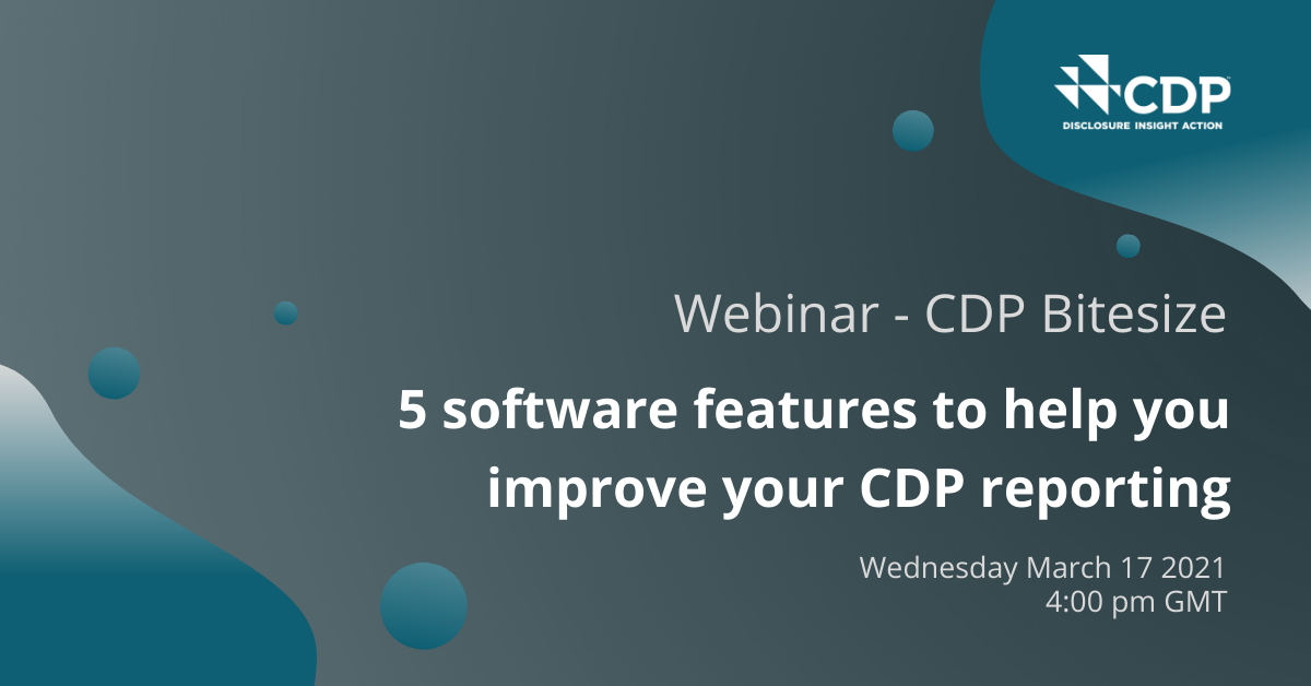 Webinar - 5 software features to help you improve your CDP reporting