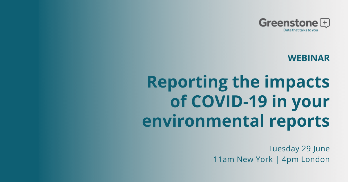 Reporting the impacts of COVID-19 in your environmental reports