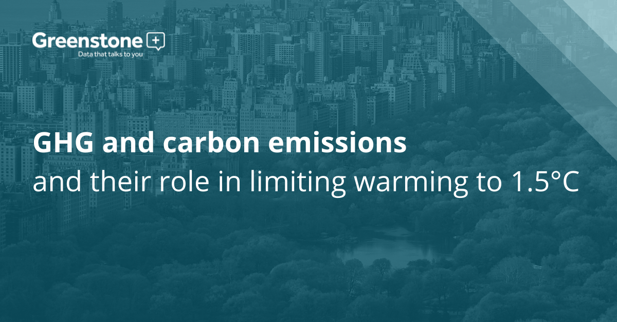 GHG and carbon emissions and their role in limiting warming to 1.5°C