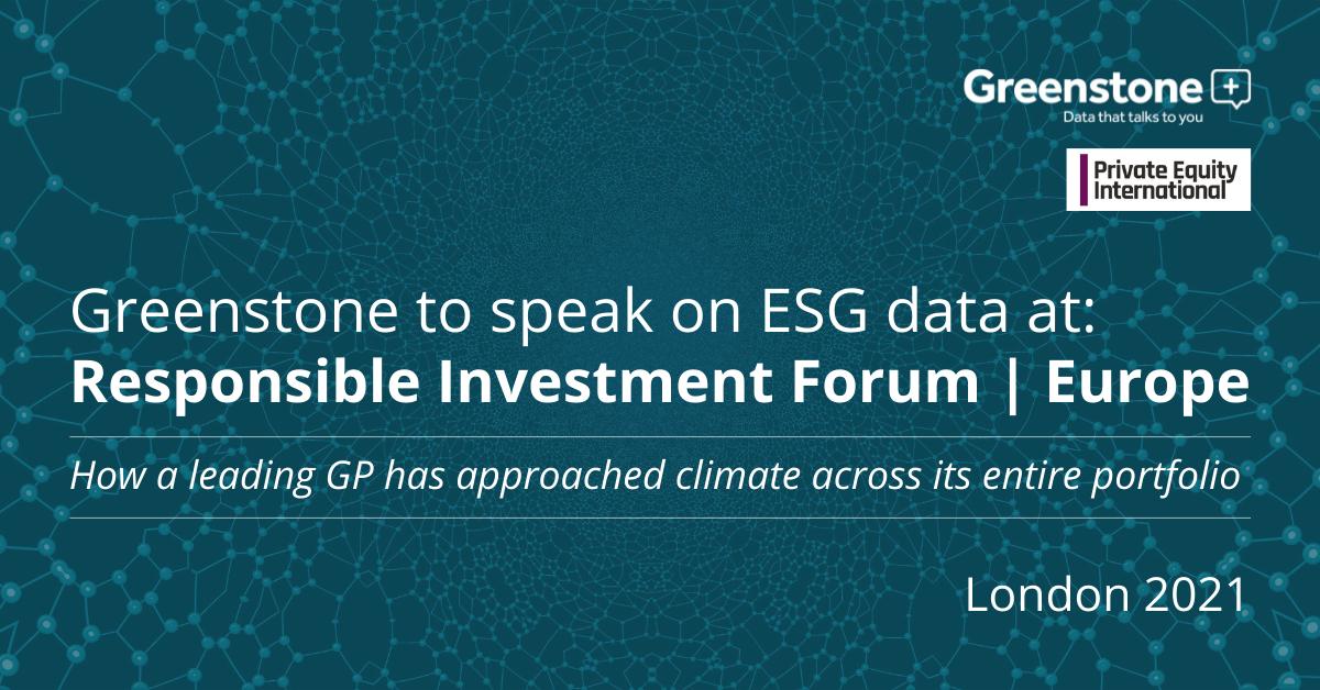 Greenstone to speak on ESG data at Responsible Investment Forum Europe