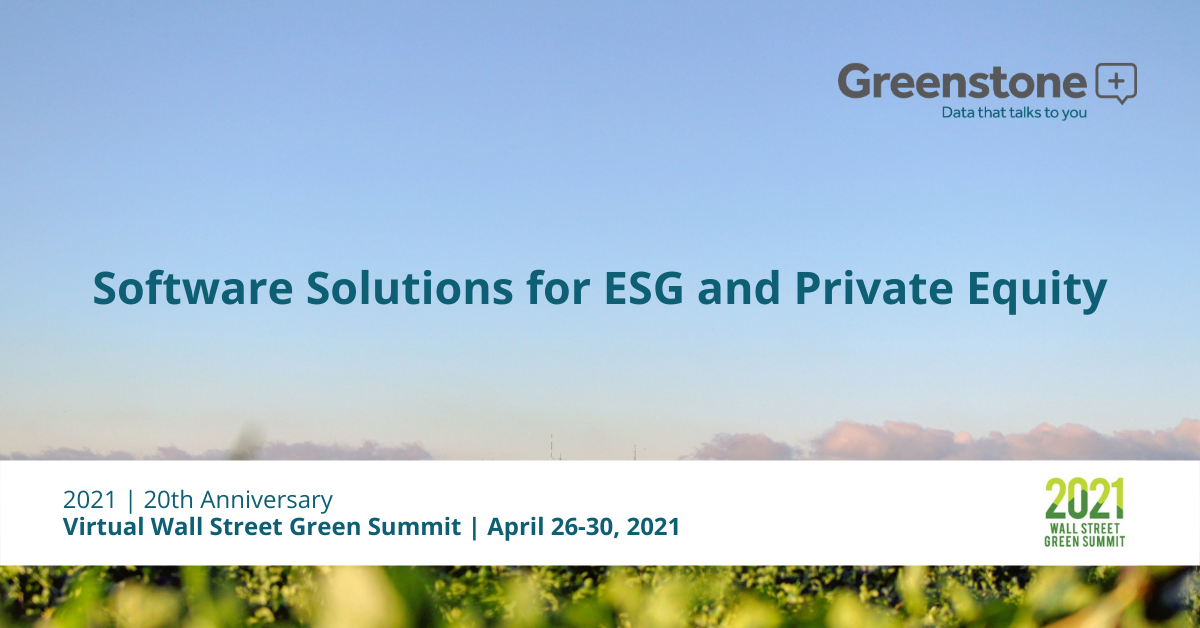 Greenstone present on ESG software at sustainable finance event