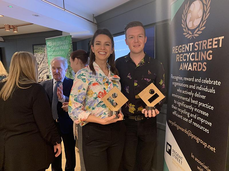Greenstone wins two awards at the Regent Street Recycling Awards