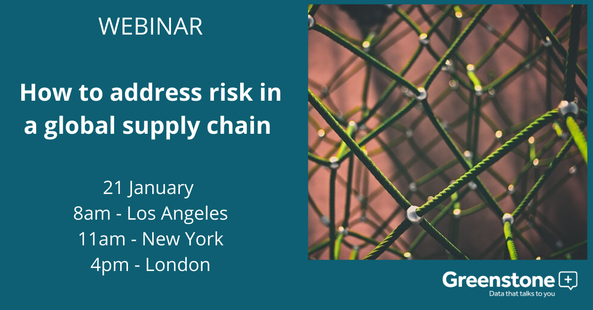 How to address risk in a global supply chain