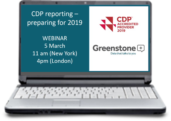 Webinar: CDP Reporting – preparing for 2019