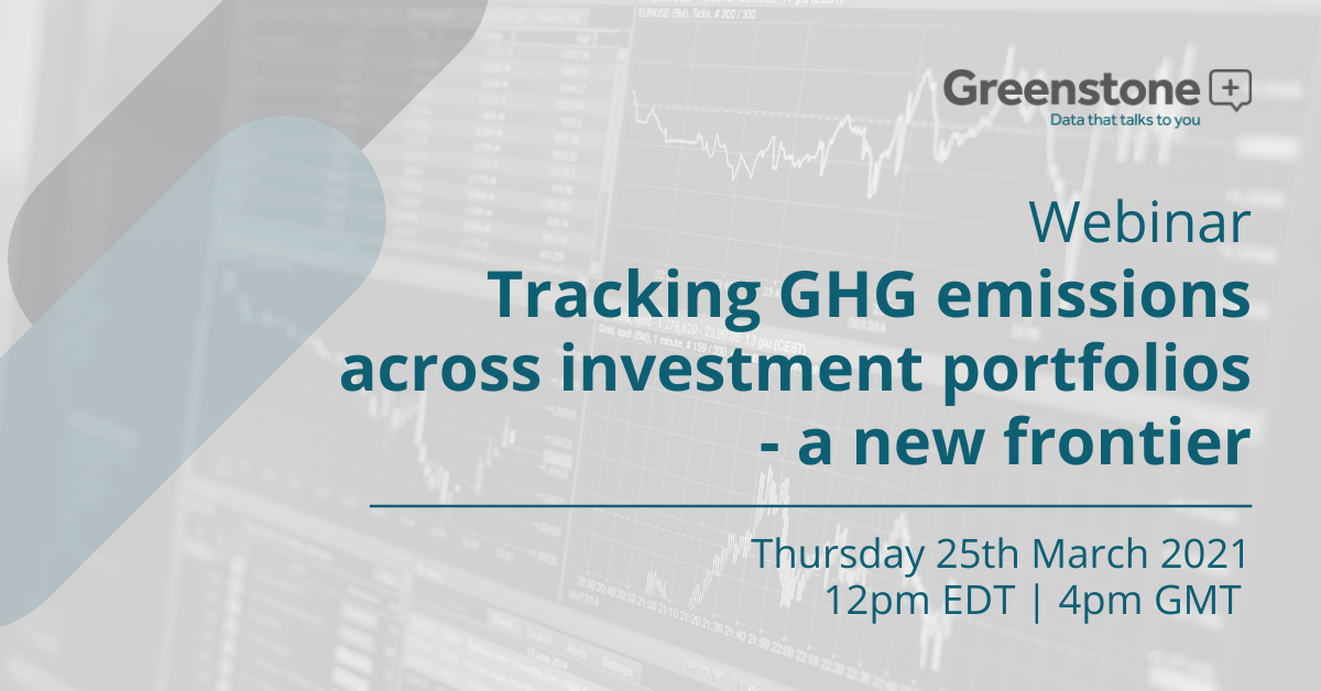 Tracking GHG emissions across investment portfolios - a new frontier
