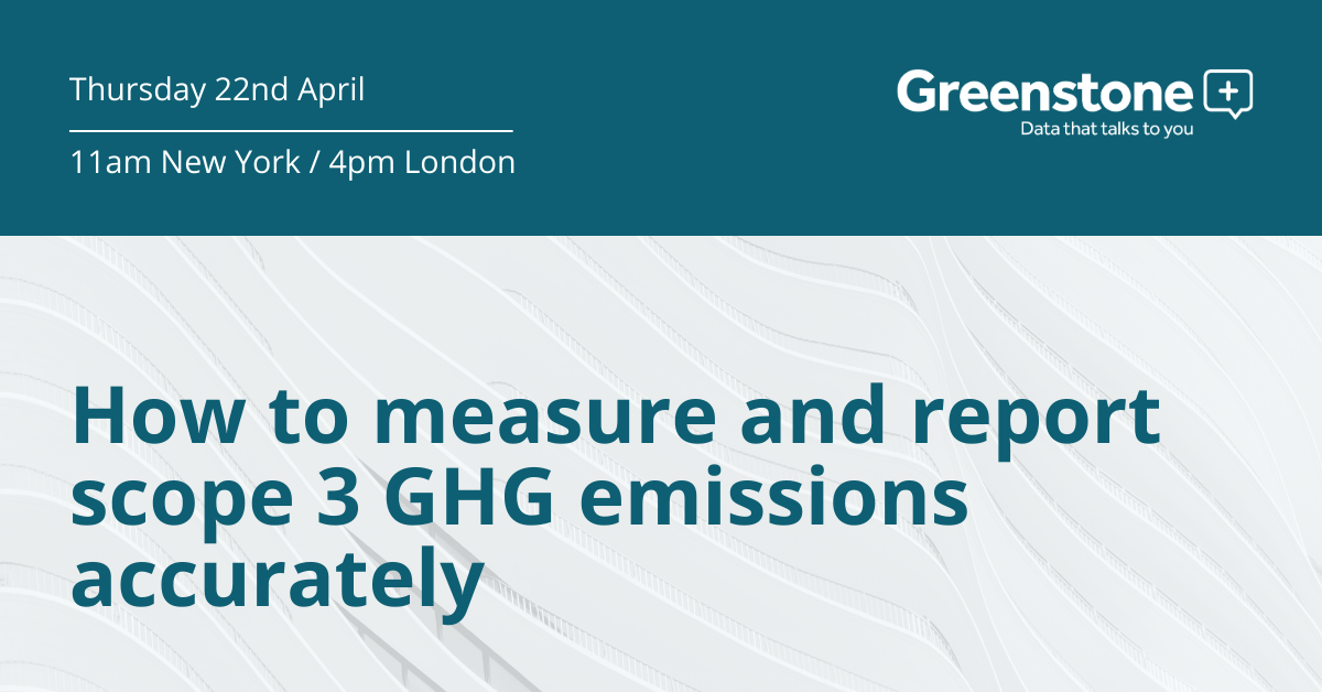 How to measure and report scope 3 GHG emissions accurately - webinar