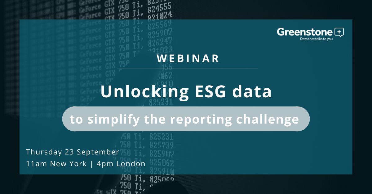 Unlocking ESG data to simplify the reporting challenge